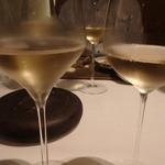 レストラン ラ フィネス - CH100%とPN100%の飲み比べ