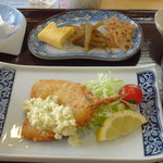 鯖島食堂 - 日本海のアジフライ定食¥800