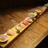 絶好調てっぺん - 料理写真:お通しは鮮魚と野菜の刺し盛り