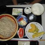 家庭の味 鹿沼そば 一心愛 - 天もりそばセット¥1200円大変美味しかった。
