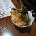 みつ子ばぁばの台所 - つき出しの野菜の天ぷら