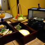 吉井旅館 - 料理写真:和の器のアフタヌーンティー