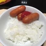 美浜 - 子供の食べ方です。良い子はマネしないで下さい。