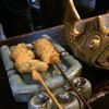 串の坊 - 料理写真:左 海老しそ巻き 右牛ヒレ