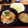 とんかつ かつや - 料理写真:ミニカツ丼セット421円(2015.7)