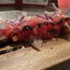 四日市バール - 料理写真:鰹のスモーク。塩で身が〆てあります