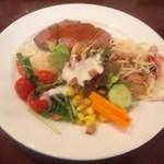 ハイアット リージェンシー 福岡 レストラン ル・カフェ - 4皿目 いや~ 美味しく、楽しく、飲んで、食べました~