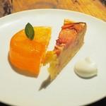 スパイスカフェ - オレンジとグレープフルーツゼリー、プラムのタルト