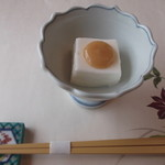 梅の花 - 料理写真:生クリームの入った、お豆腐。柚子味噌かけ~。