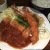 夢たまご - 料理写真:大海老フライ&ローストンカツ定食