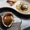 雪園 - 料理写真:活アワビの二味料理 醤油煮込みとキノコソー