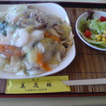 39938304 - 201507シェフの気まぐれ 三鮮炒麺(サラダ・コーヒー付)