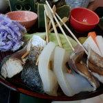 海の花 - 館山ご当地グルメ『炙り海鮮丼』1の段