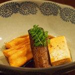 大根 - 穴子とゴボウの煮物