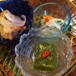 旅館 大村屋 - 料理写真:前菜。よもぎ麩美味しい