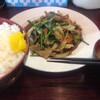 十五万石 - 料理写真:2015年5月23日  ニラ豚定食