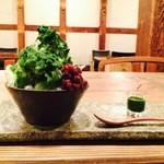 矢野善 - お茶屋さんの抹茶かき氷(ほうじ茶と週替わり)