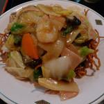 中国料理 揚州厨房 - かた焼きそば(セット)