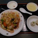 中国料理 揚州厨房 - かた焼きそばセット