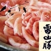 夏でもサッパリ♪糸島のブランド豚雷山イデア豚しゃぶしゃぶ鍋!