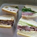 3 - 単品なら、迷いそうなサンドイッチが4個も並びます