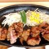 ワンカル食堂 - 料理写真:炭火焼 名物ワンカルビ120g 950円+ランチサラダ 108円