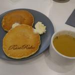ルサ ルカ - パンケーキと、食事セットのスープ