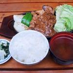 カフェ&バー バリバリ - 料理写真:豚ステーキ定食 1450円 (^^b