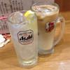 あげ市 - ドリンク写真:レモンサワー 400円とねこちゃんハイ450円