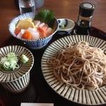 蕎麦や 銀次郎 - 海鮮丼+ざるそばセット(1250円税別)