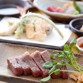 【ステーキ&天婦羅】贅沢なコンビネーションコースをぜひ♫