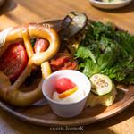 オイモカフェ - むさし野自然農場の焼き野菜プレート