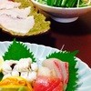 割烹 たけだ - 料理写真:志布志特産の貴重な生きた旬の鱧を料理した日本料理の鱧コース。絶品です!その日入荷した鱧に合う創作料理で最高に美味しいです!何と言っても新鮮な鱧しゃぶしゃぶは絶品です