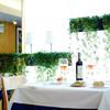 フラットリア - 内観写真:植栽の美しい店内で気持ちのいいお食事を