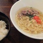 OKINAWAN BAR MAMI-ANA - そーきそば定食(ハーフ)\750円