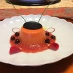 ニューいらご - 赤ピーマンのババロア 烏賊墨クリームチーズ
