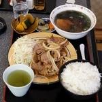 光玉母食堂 - 生姜焼き(友人)