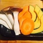 池袋 焼肉オーダーバイキング ほむら庵 - 野菜盛り