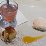 チェーロ - スイカのゼリー、リンゴのタルト、アールグレイのパンナコッタ