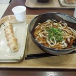 羽生製麺処 - かけうどん410円とちくわ天110円