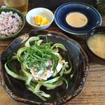 ネマルカフェ - 週替わりランチ 梅の冷しゃぶ 950円