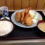 乃んき食堂 - 盛り合わせフライ定食