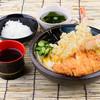 讃岐屋 - 料理写真:とんかつ特海老天ぶっかけうどん