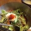トォンデジ - 料理写真:ランチ ビビン麺 スープ付       700円かな?       辛いソース入れると結構辛い。手軽に韓国料理たべれるお店があって嬉しい