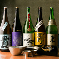 充実したラインナップの日本酒で極上の「おもてなし」