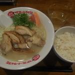 太陽のトマト麺 - 鶏パイタン+ライス 730→500