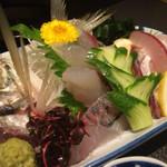 八剣伝 - 料理写真:鯵のお刺身♬