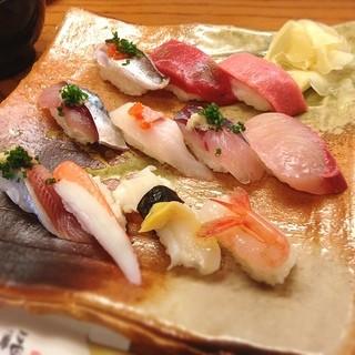 寿司処 伸福 - 料理写真:能登地物にぎり 2700円