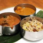 南インドカレー&バル エリックサウス - 3種菜食カレー(2015.07)