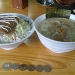 40399730 - 2015-07-29 本日のミニ丼(照り焼きハンバーグ丼¥250 ライス大盛無料サービス)